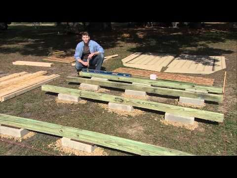 How to Level an Outdoor Storage Shed Foundation & build a roof