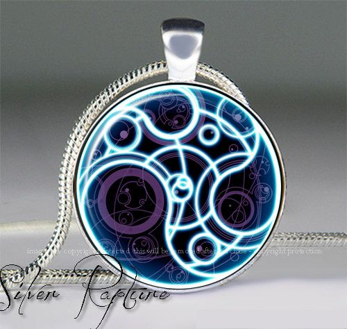 Doctor Who Time Lord Seal Inspired Necklace Dr by SilverRapture, $10.00