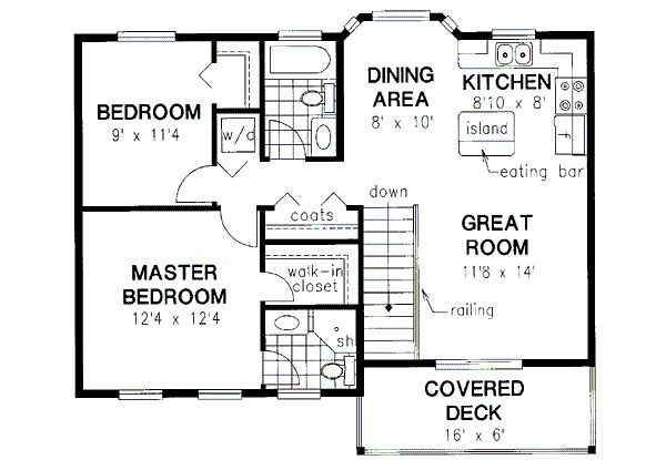 With 2 Bedrooms Above Garage : Best bedroom house plans ideas on pinterest small
