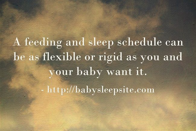 Is a rigid or flexible sleep schedule right for your baby? #baby #sleep #tips