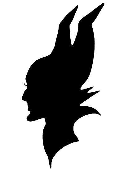 Black Maleficent Silhouette by BethannieeJ
