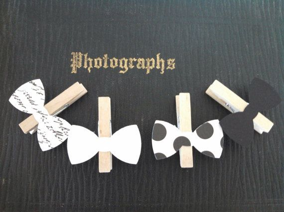 Bow Tie Clothespin Clips Birthday Party Baby Shower by SweetThymes