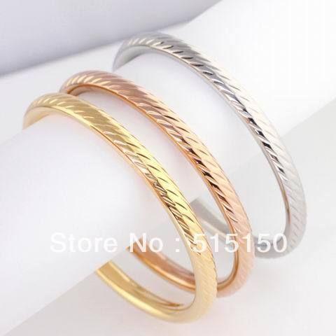3шт сильный нержавеющая сталь серебро и золото повесить кольцо браслет