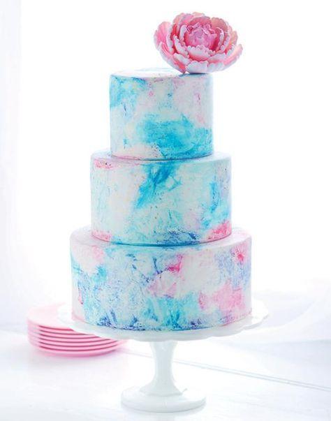 Elaborate Drip Birthday Coconut Cakes
