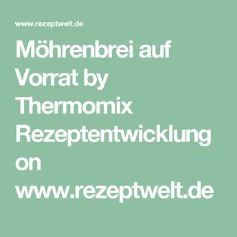 Möhrenbrei auf Vorrat by Thermomix Rezeptentwicklung on www.rezeptwelt.de