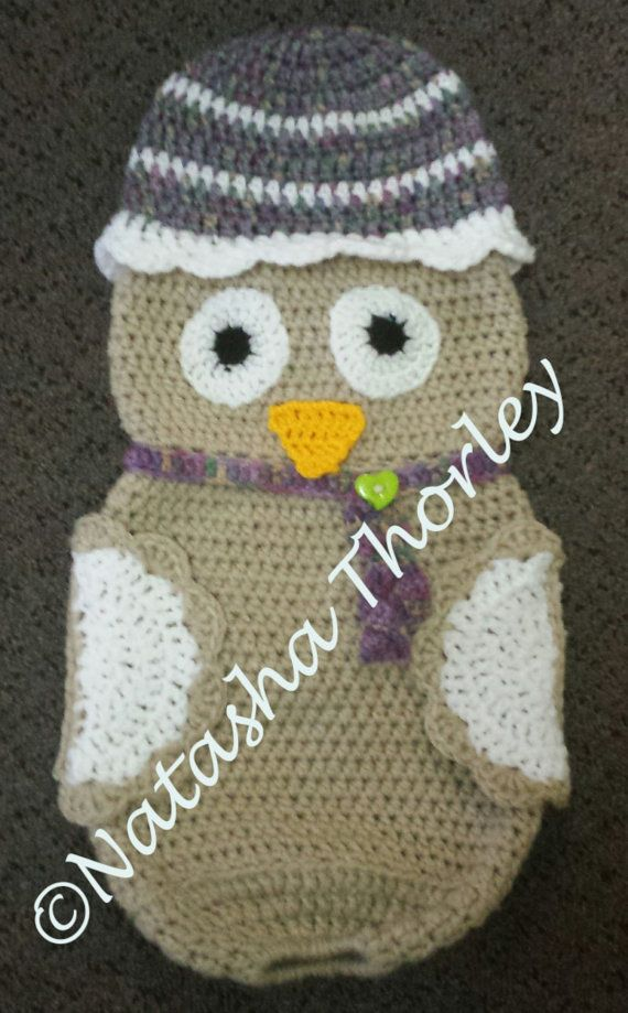 Crochet Pattern Plastic Bag Holder : Owl plastic bag holder or pillow by MummaBearscrochet on ...