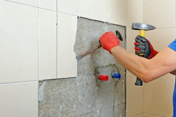 How To Remove Ceramic Wall Tile Without Damaging Drywall Tile Removal Ceramic Wall Tiles Cleaning Painted Walls