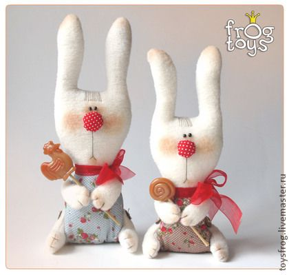 Игрушки животные, ручной работы. Ярмарка Мастеров - ручная работа Текстильная кукла Зайчик карамельный. Handmade.