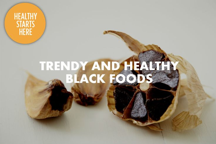 Did you know that many black foods pack a powerful antioxidant exclusive to dark pigments? Try some of these trending black foods.