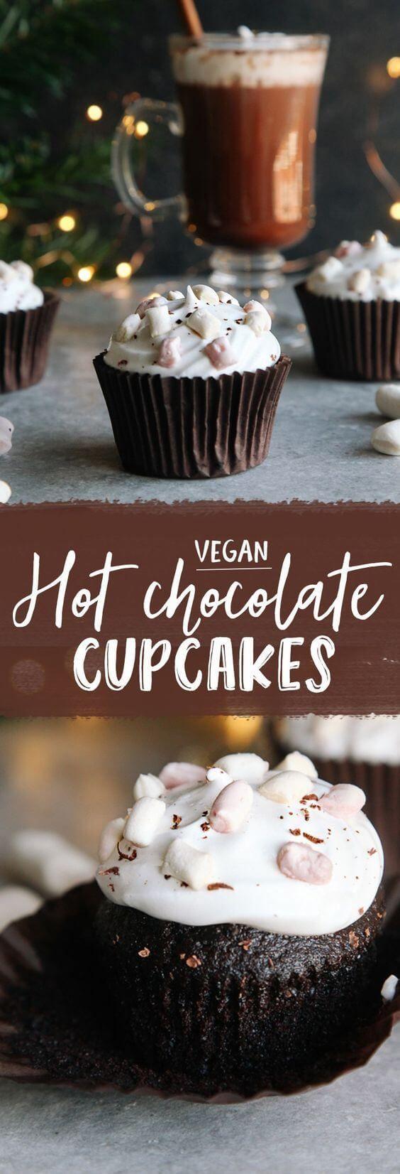 nice Hot Chocolate Cupcakes (Vegan)