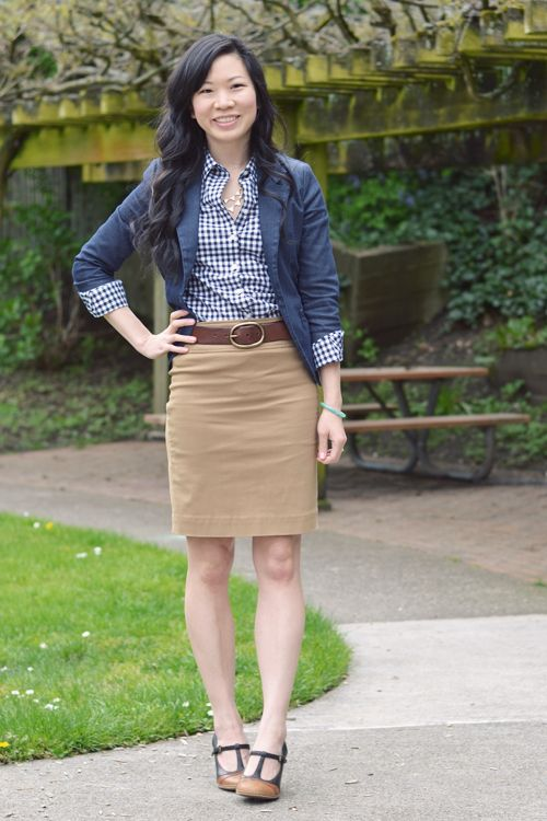 70 best images about How to Wear Khaki Skirt on Pinterest