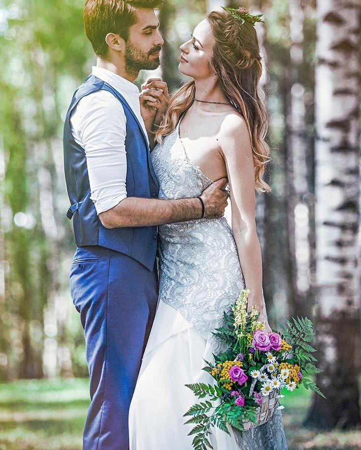 Свадебное платье, нежность, серое платье, кружево, свадьба, фотосессия, фото в лесу, бохо