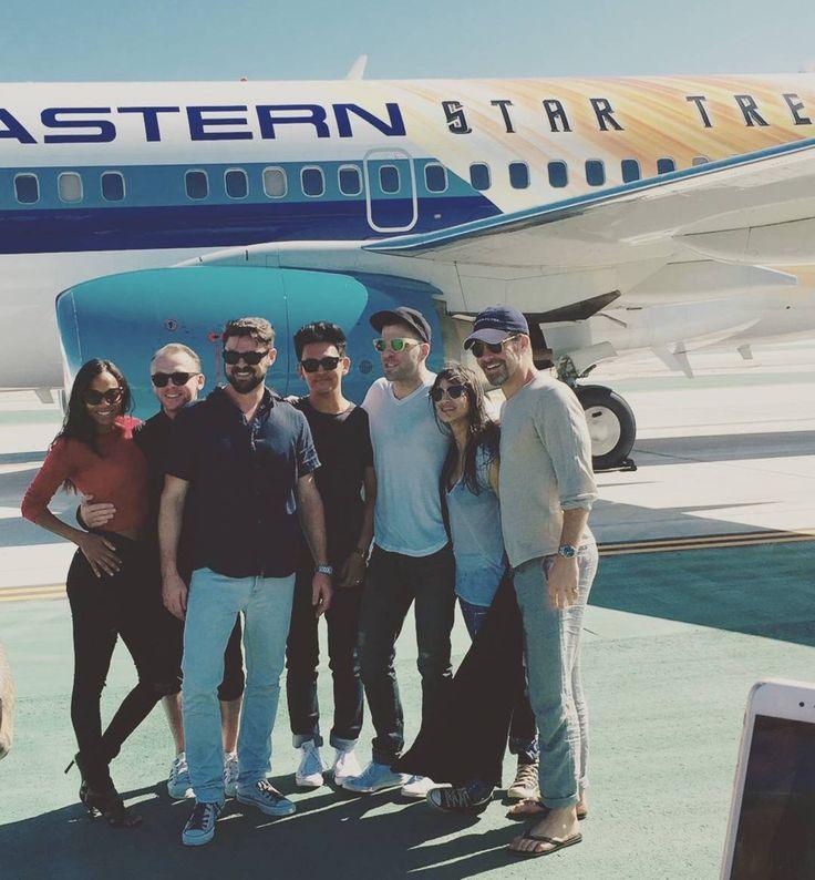 Star Trek cast--they've got their own ride lol.