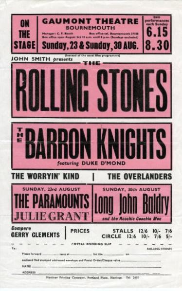 Rolling Stones handbill