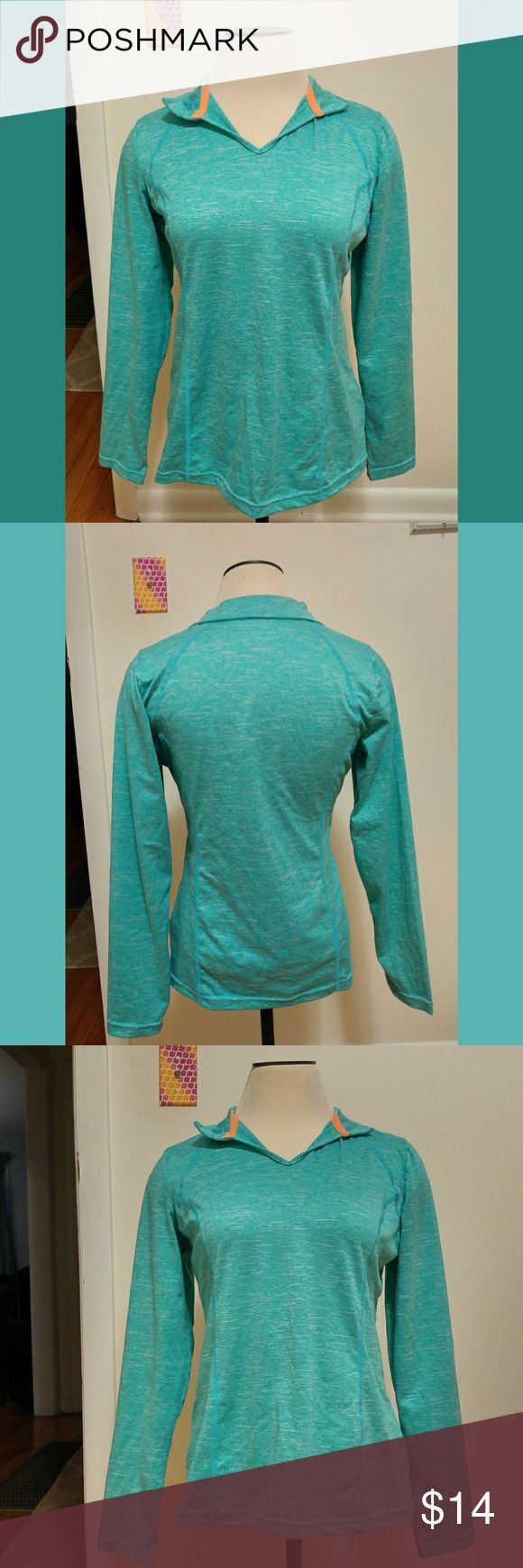 Teal Workout Gym Running Top Xersion long sleeve workout top.  Size medium. Xersion Tops Tees - Long Sleeve