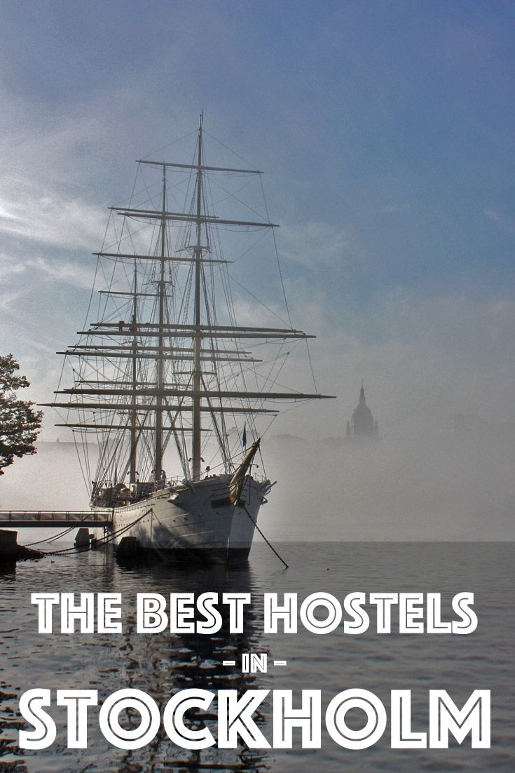 Our guide to the best hostels in Stockholm, Sweden, including this incredible floating hostel with views of Gamla Stan.