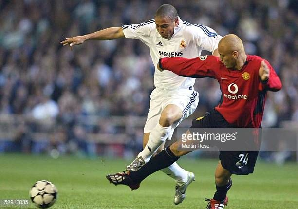 World S Best Ronaldo Nazario Vs Manchester United Stock Pictures Photos And Images Getty Images Manchester United Ronaldo Stock Pictures
