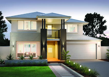 Sheridan 34 || Double storey home design featuring five bedrooms plus a study/guest room and and upstairs leisure room