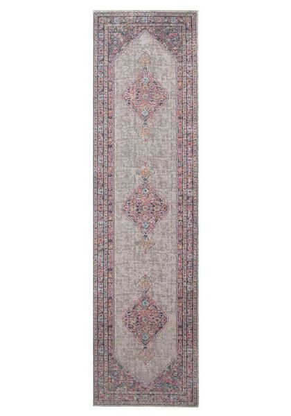 Imagine this beautiful runner rug in your home's hallway: Menhit Grey Transitional Patterned Runner Rug