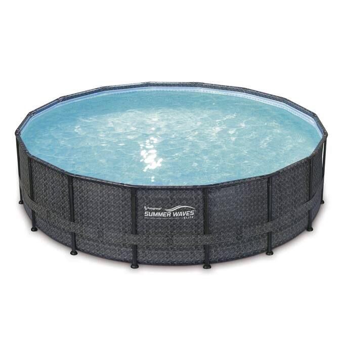 12 Wicker Pattern Elite Metal Frame Pool By Summer Waves In 2020 Summer Waves Stock Tank Pool Diy Wicker
