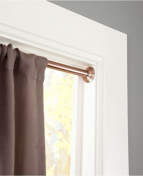 Sun Zero Closeout 3 4 Light Blocking Tension Curtain Rod 48 86