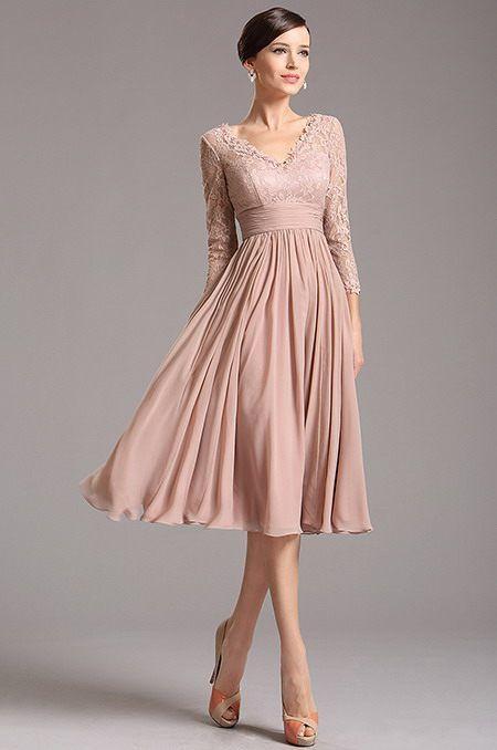 Krásne jednoduché spoločenské šaty E00853