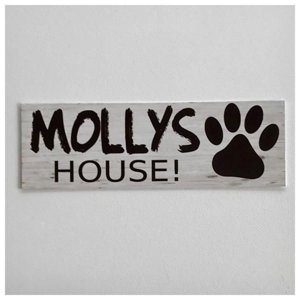 Custom Your Dog Name House Kennel Sign Dog Signs Dog Names