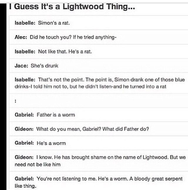 Lightwoods || The Infernal Devices || Mortal Instruments. I think it is a Lightworm thing. Oops Lightwood. :P