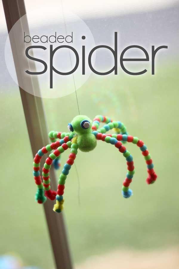 Beaded spider for Halloween