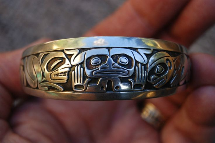"""Mankind Emerging"" NWC Silver Bracelet by Barry Herem"