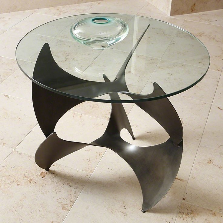 """Accent Table - Manufactured by Global Views - #9.91814 - Amoeba Side Table-Bronze- 28""""Dia. X 24.25""""H"""