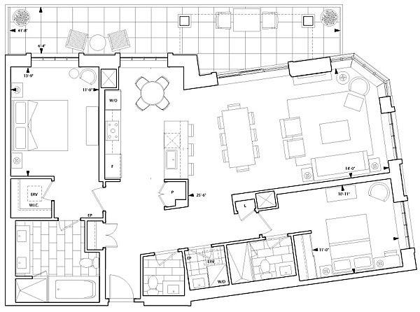 17 ideas about condo floor plans on pinterest apartment for Apartment floor plans toronto