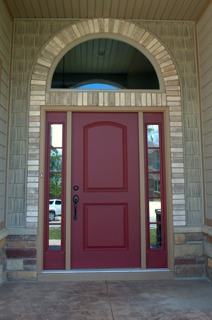 Front Door with Brick Trim Desert Tan 100 Series Brick Ju0026N Stone & 14 best Stone Style: Brick images on Pinterest | Brick Bricks and ...