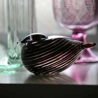 """Iitala """"Whip-poor-will"""" glass bird by famed Finnish designer, Oiva Toikka."""