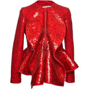 Givenchy Sequin Embellished Ruffled Jacket