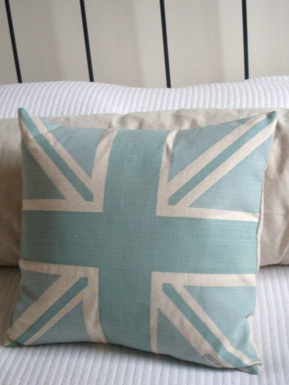 Union Jack Flag pillow   ::swoon:::  $54.00