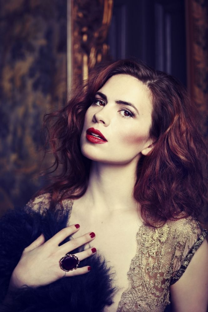 Hayley Atwell - love that colour (though I'm not sure if it's her hair or the colour of the photo...)