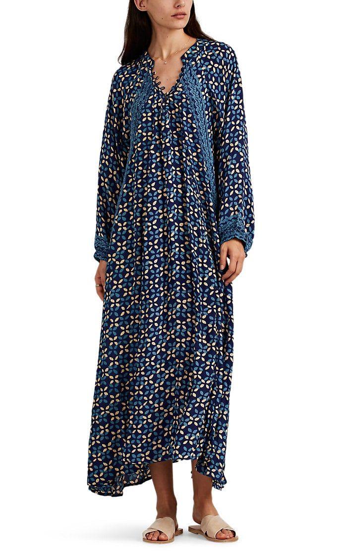 4e3cbb9cc21 Natalie Martin Women s Fiore Silk Maxi Dress - Blue in 2019