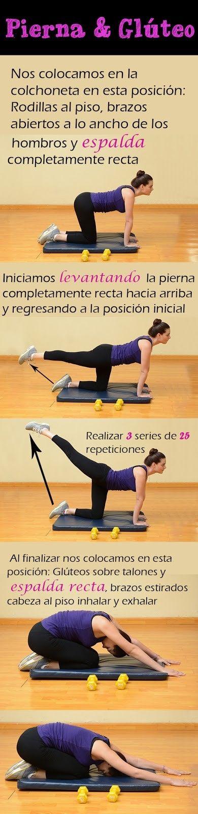 Rutina de ejercicio para piernas y glteo