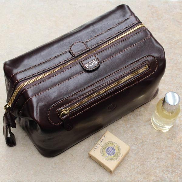 Duno L Men's Leather Wash Bag