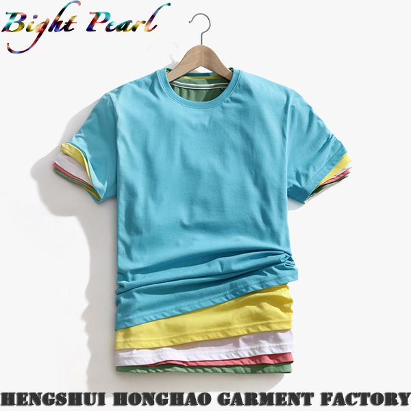 Mens Summer Clothing Short-sleeve Tee Shirts, View mens t shirt, Bright Pearl Product Details from Hengshui Aohong International Trading Co., Ltd. on Alibaba.com