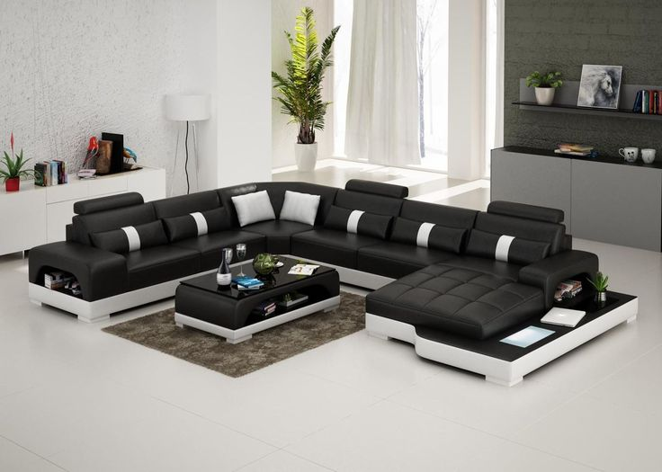 Connie Sectional Sofa - Leather Living Room Furniture - Fancy Furniture - Leather Sectional Sofa - from Opulent Items IHSO01253