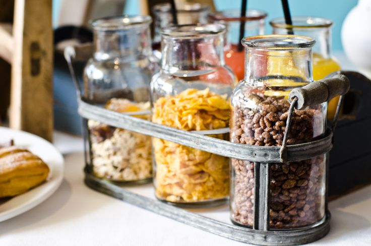 Breakfast Buffet - good morning cereals. Big Mason jars would work great.