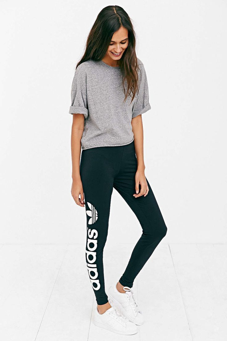 awesome adidas Originals Trefoil Legging - Urban Outfitters