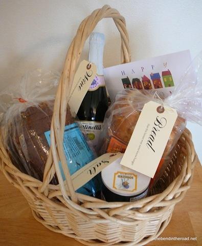 """it's a wonderful life"" housewarming gift basket."