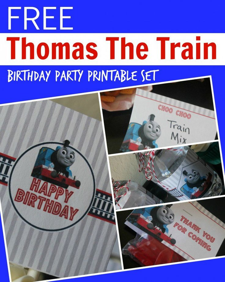 Thomas the Train Engine Birthday Party Printable Set