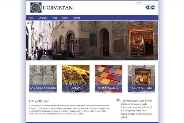E-commerce website design by Creitalia Group, for L'Orvietan, Orvieto Italy.