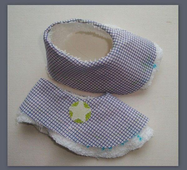 Tuto pour petits chaussons de b b couture pinterest - Tuto chausson bebe couture ...