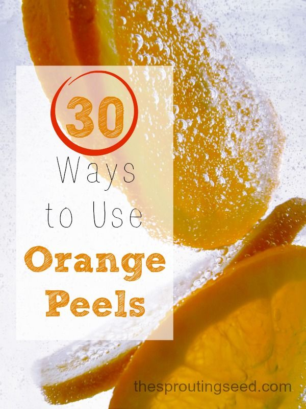 Have a bunch of left over orange peels? Well then you'll love this list of 30 different ways to use them!