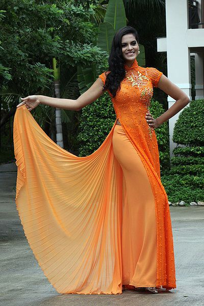 modern ao dai.. love the Orange too!